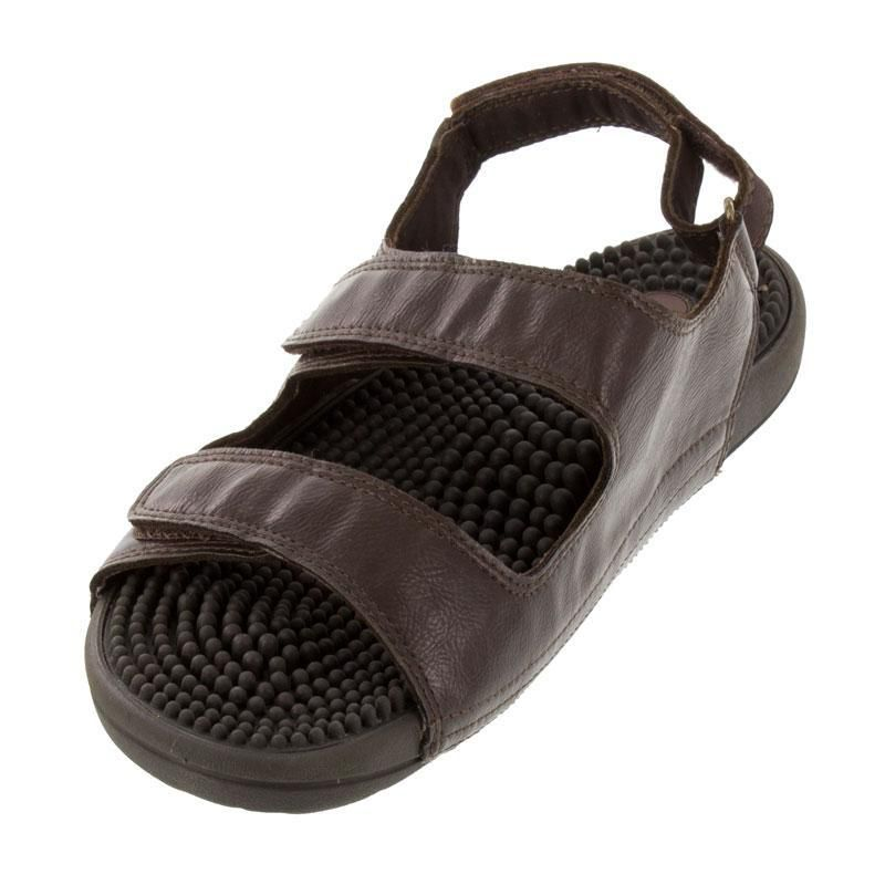 Kenkoh Balance Brown Massage Sandal left front view