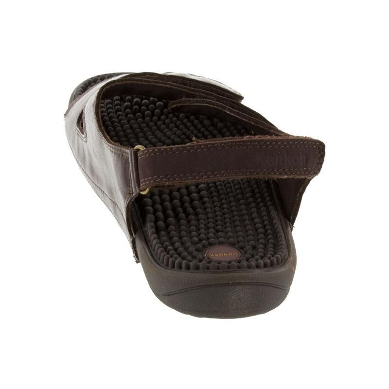 Kenkoh Balance Brown Massage Sandal back view