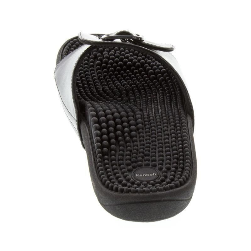 Kenkoh Chai Black Massage Sandal back view