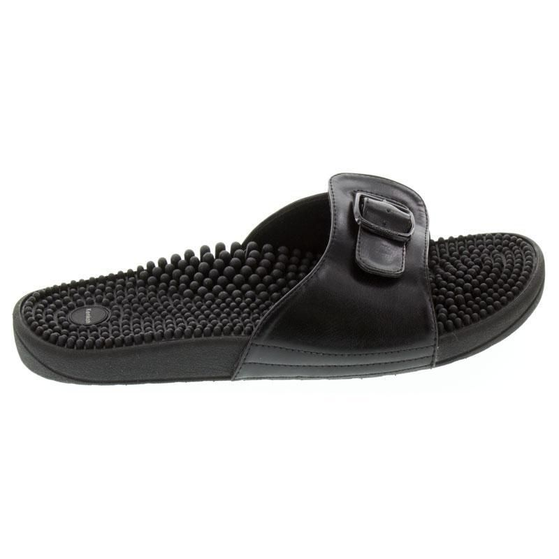 Kenkoh Chai Black Massage Sandal right side view