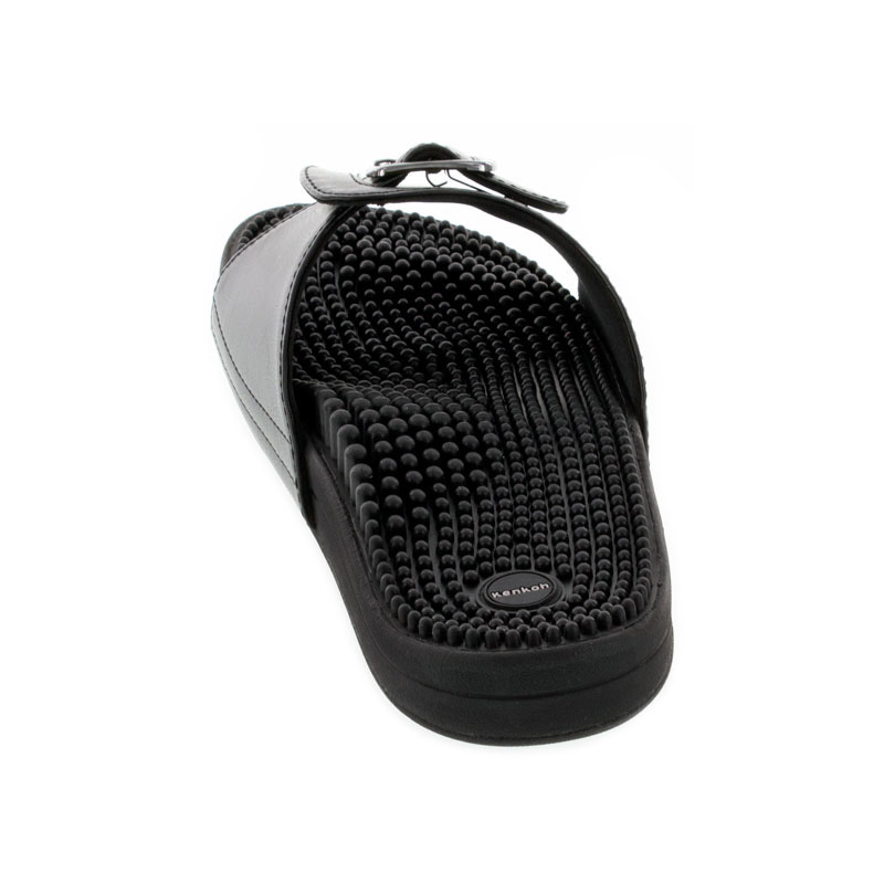 Kenkoh Chai V Black Massage Sandal back view