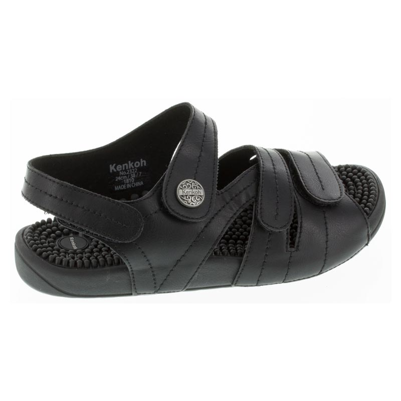 Kenkoh Essence Black Massage Sandal right side view