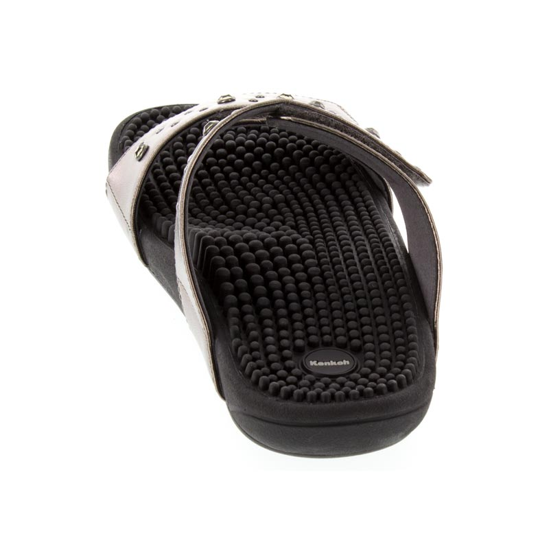 Kenkoh Lotus Pewter Massage Sandal back view