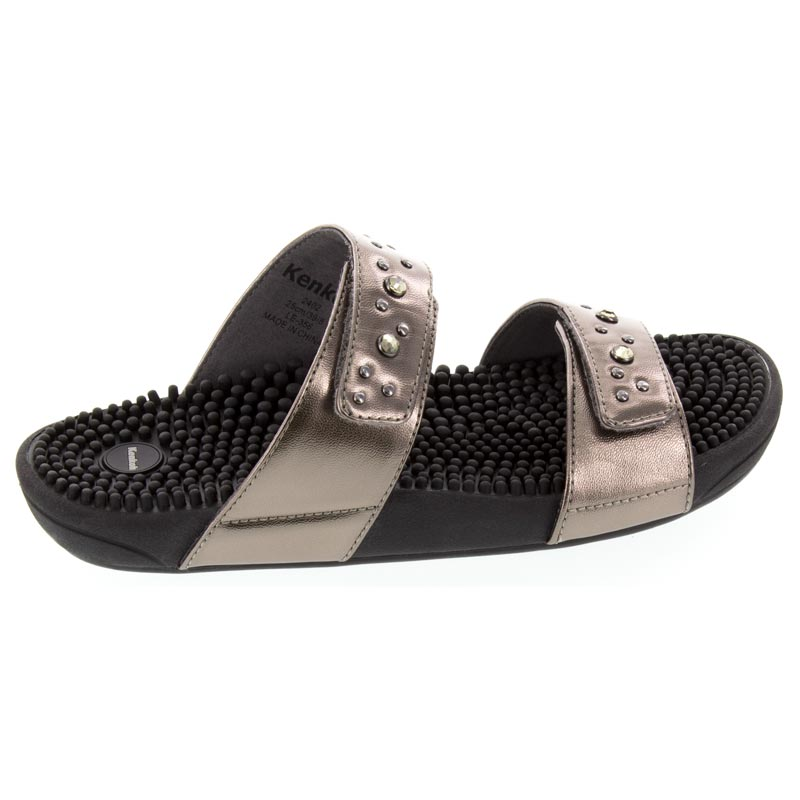 Kenkoh Lotus Pewter Massage Sandal right side view