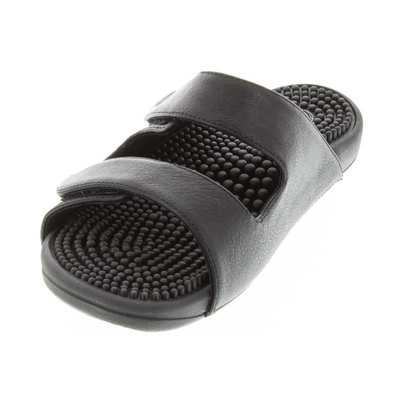 Kenkoh Serenity 2 Black Massage Sandal left front view