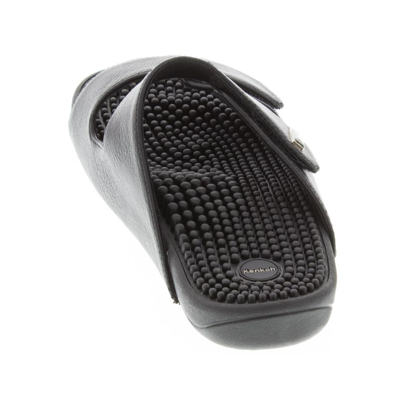 Kenkoh Serenity 2 Black Massage Sandal back view