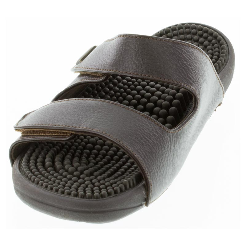 Kenkoh Serenity 2 Dark Brown Massage Sandal left front view