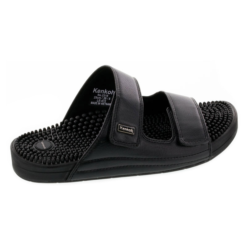 Kenkoh Serenity V Black Massage Sandals right side view