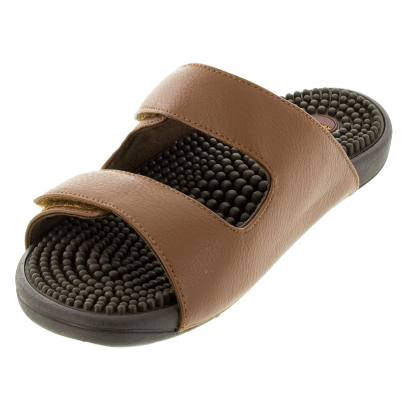 Kenkoh Serenity 2 Brown Massage Sandal left front view
