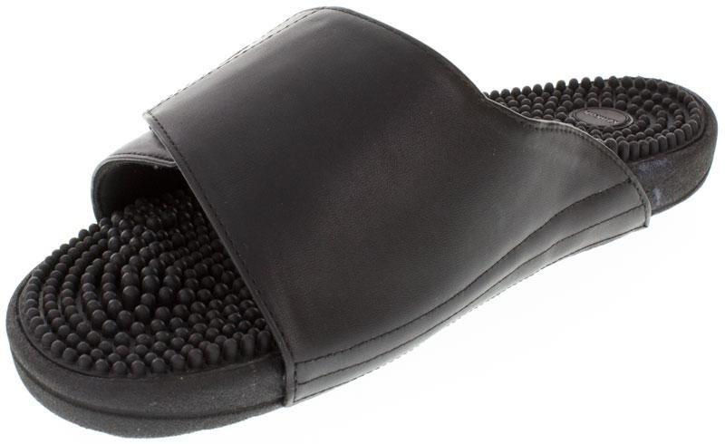 Kenkoh Soul 2 Black Massage Sandal left front view