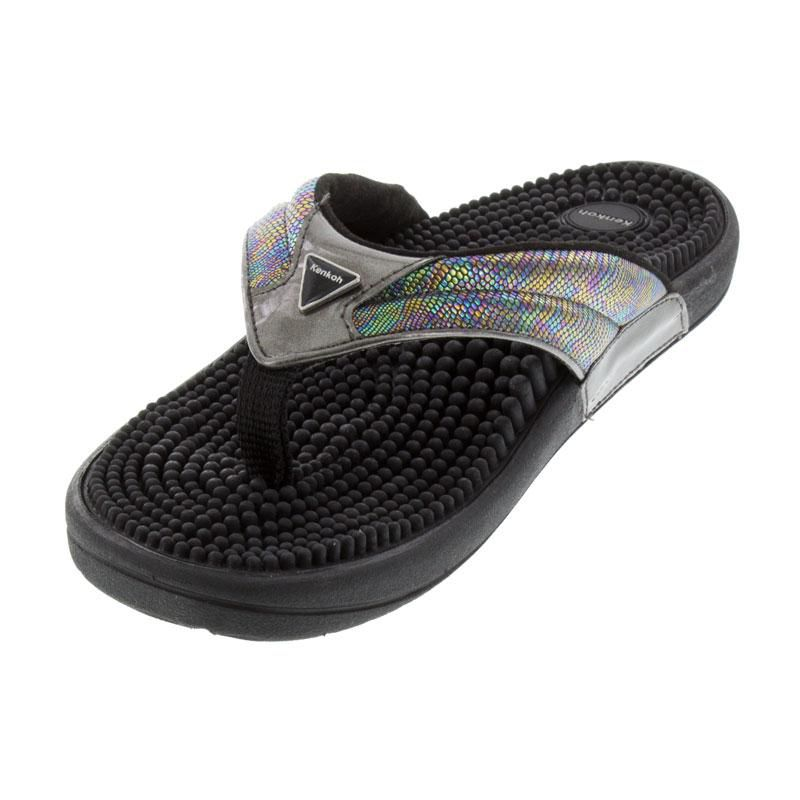 Kenkoh Spirit Metallic Massage Sandal left front view