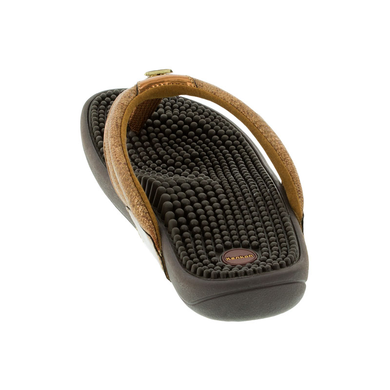Kenkoh Spirit Bronze Metallic Massage Sandal back view
