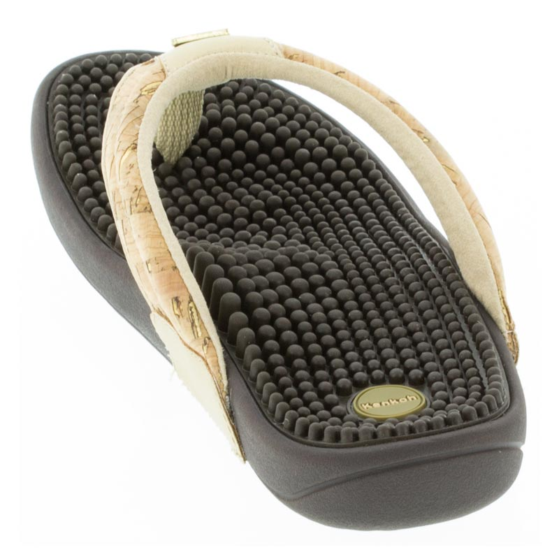 Kenkoh Spirit Cork Metallic Massage Sandal back view