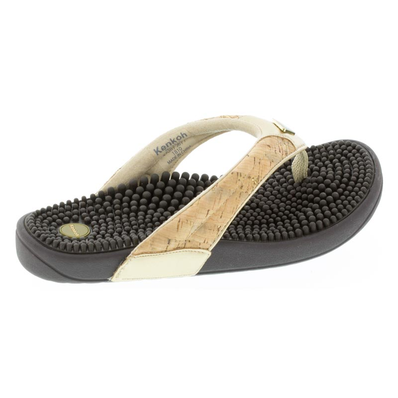 Kenkoh Spirit Cork Metallic Massage Sandal right side view
