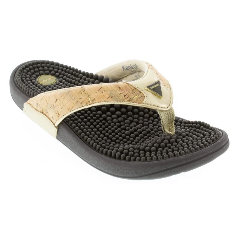Kenkoh Spirit Cork Metallic Sandals