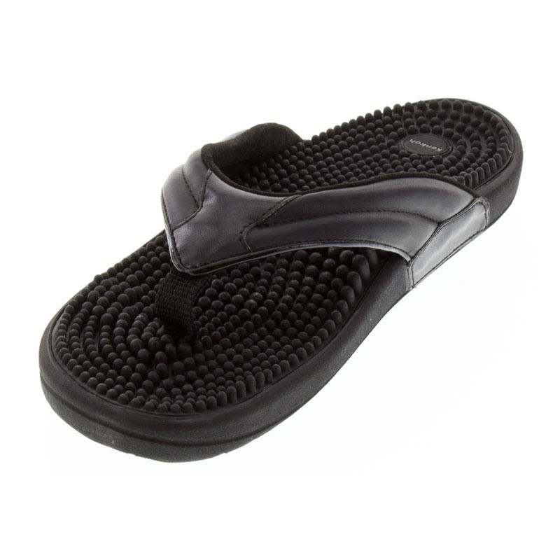 Kenkoh Spirit Black Massage Sandal left front view