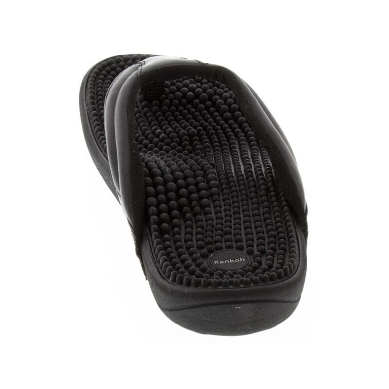 Kenkoh Spirit Black Massage Sandal back view