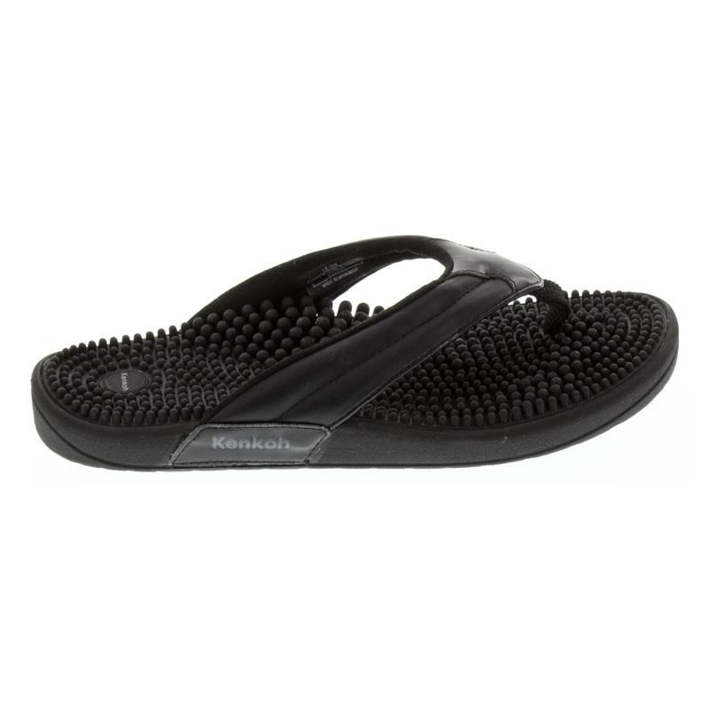 Kenkoh Spirit Black Massage Sandal right side view