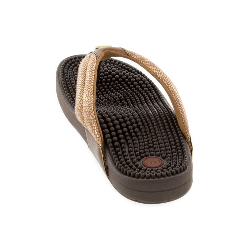 Kenkoh Spirit V Bronze Metallic Massage Sandal back view