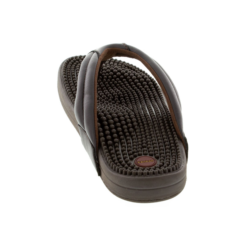Kenkoh Spirit V Brown Massage Sandal back view