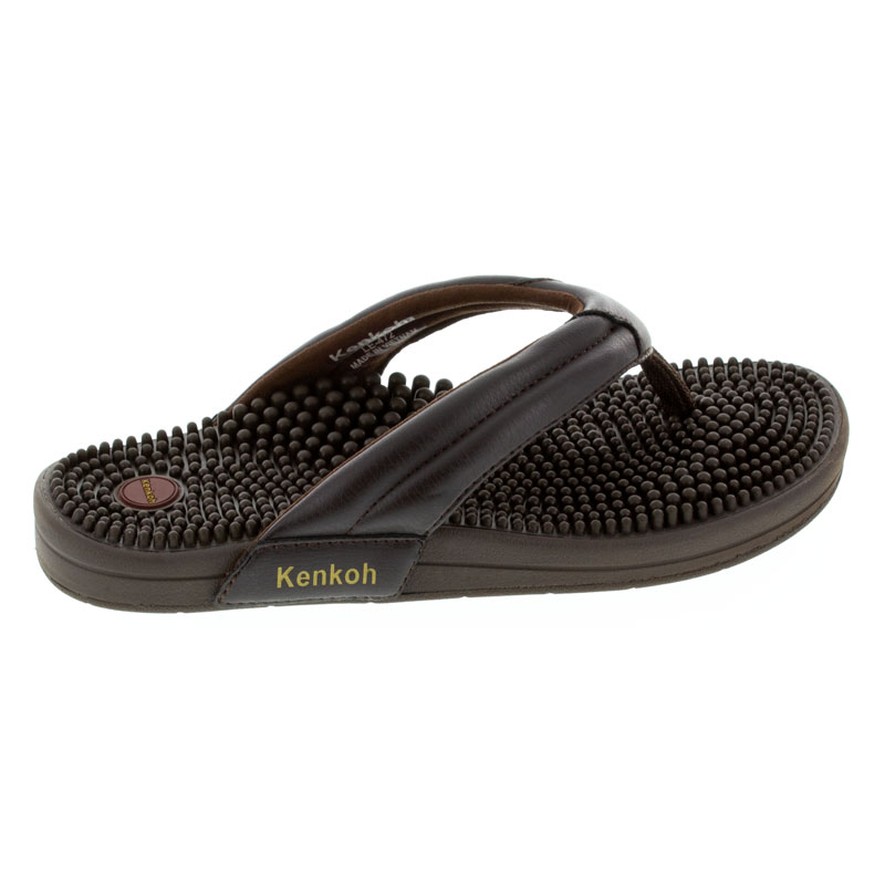 Kenkoh Spirit V Brown Massage Sandal right side view