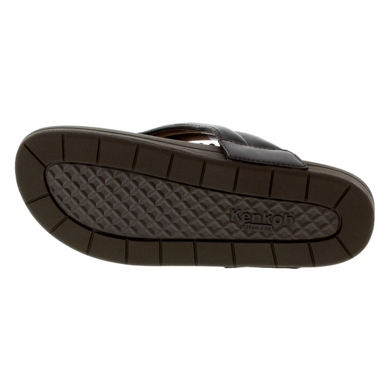 Kenkoh Spirit V Brown Massage Sandal bottom outsole view