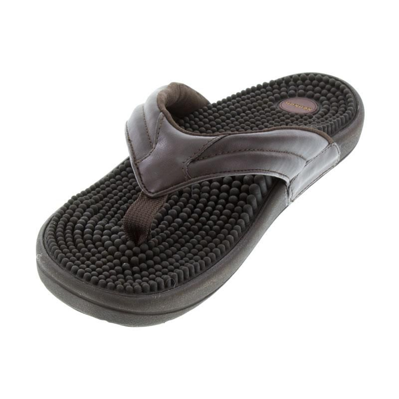 Kenkoh Spirit Brown Massage Sandal left front view