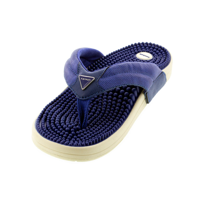 Kenkoh Spirit V Royal Blue Massage Sandal left front view