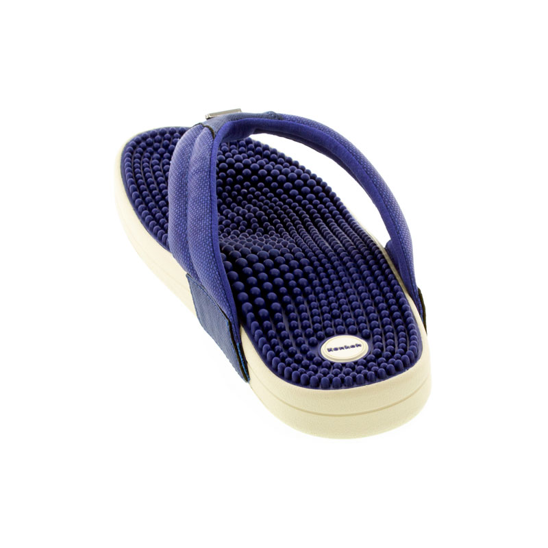 Kenkoh Spirit V Royal Blue Massage Sandal back view