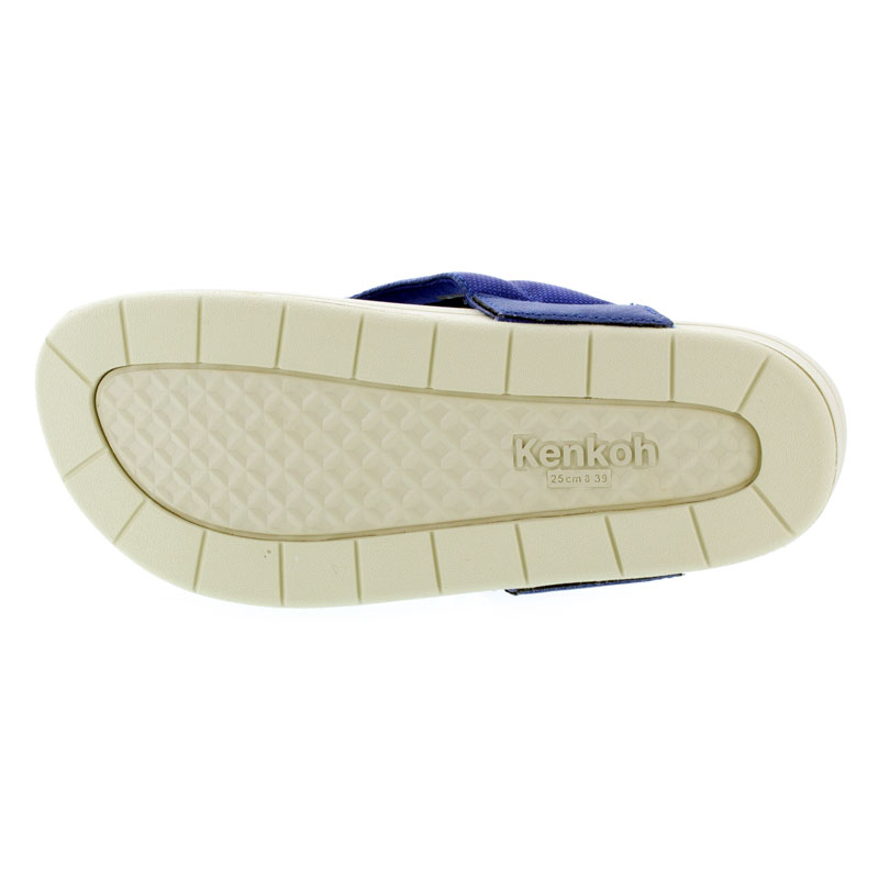 Kenkoh Spirit V Royal Blue Massage Sandal bottom outsole view