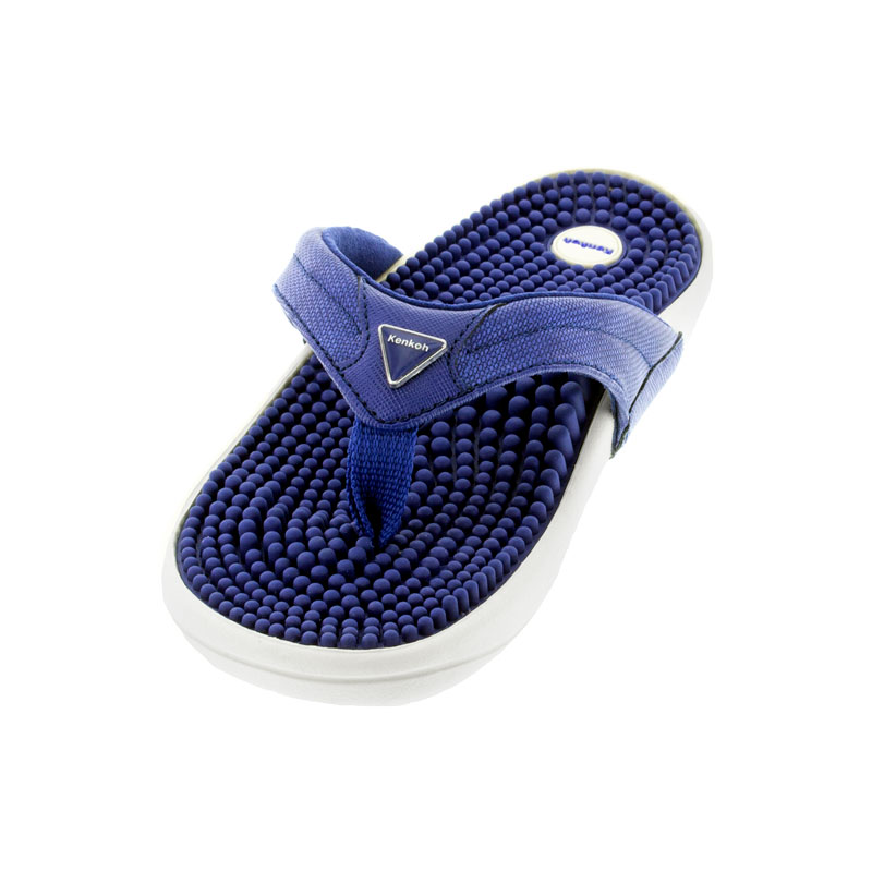 Kenkoh Spirit Royal Blue Massage Sandal left front view