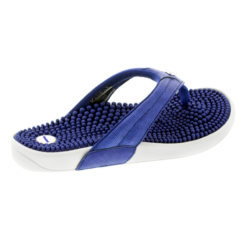 Kenkoh Spirit Royal Blue Massage Sandal right side view