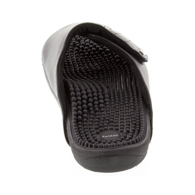 Kenkoh Soul 2 Black Massage Sandal back view
